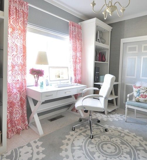 Grey and White Office