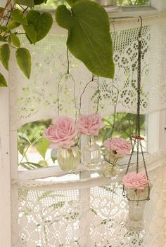 Lace and flower window